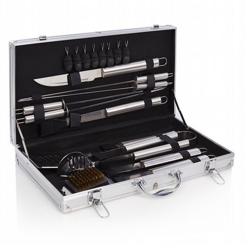 Barbecue Set - 18 Piece Stainless Steel